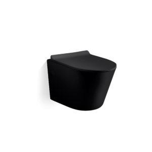 Унитаз подвесной Piatti VT1-11MB,  ультратонкое сиденье soft-close, черный матовый