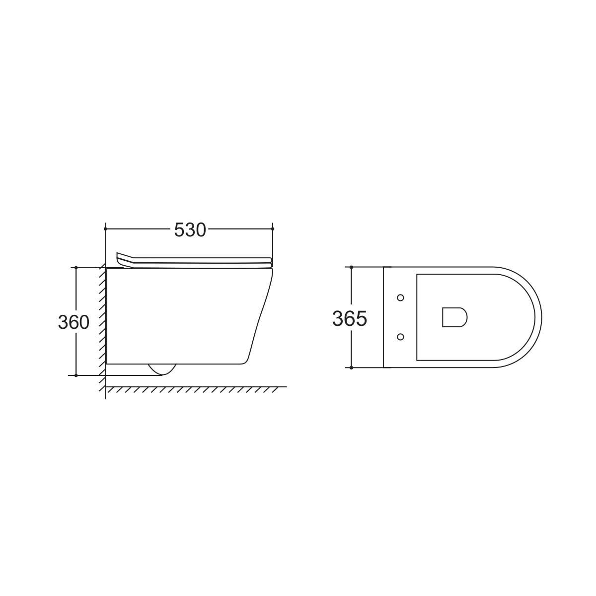 Унитаз подвесной Vito VT1-23 безободковый, ультратонкое soft-close сиденье