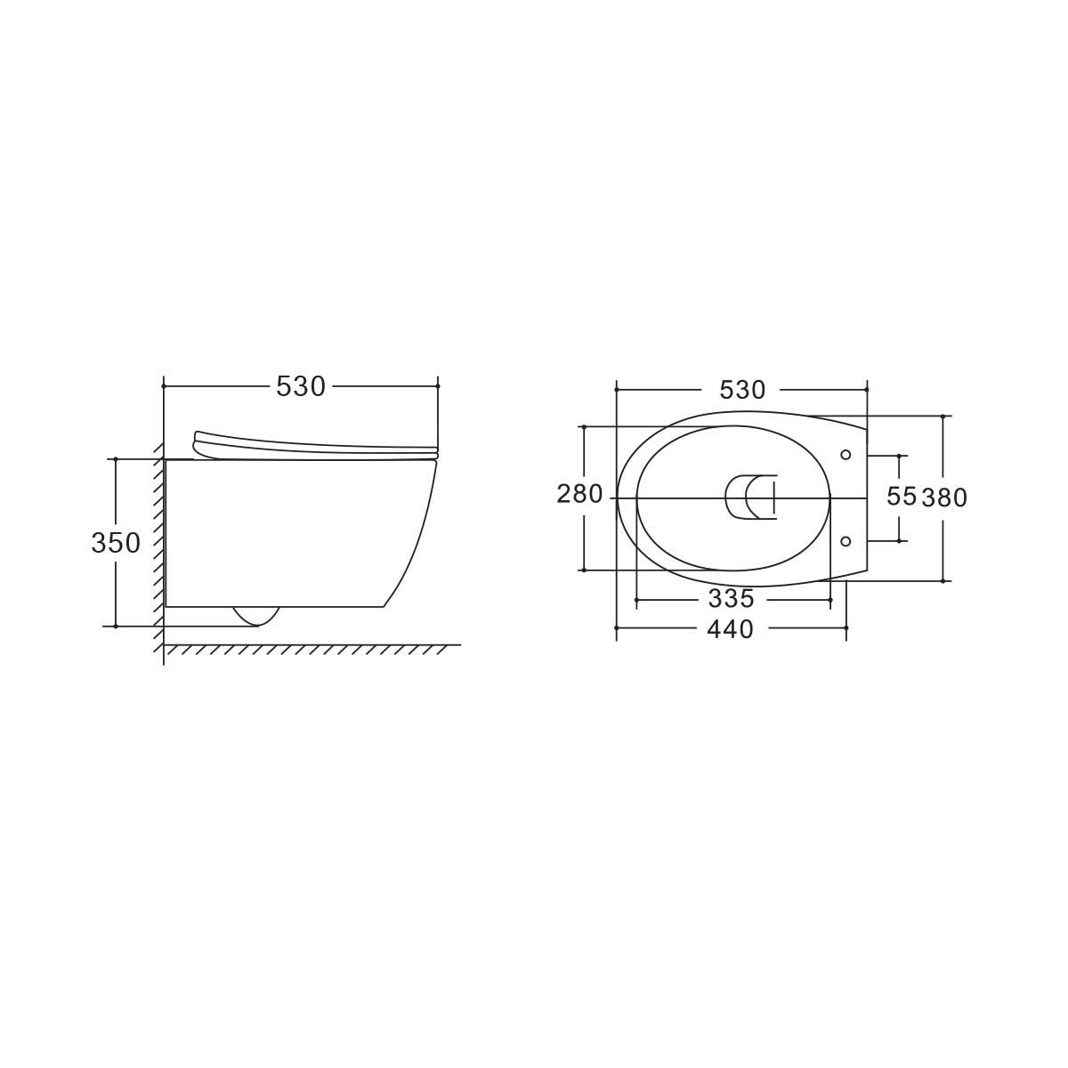 Унитаз подвесной Felice VT1-25 безободковый, ультратонкое soft-close сиденье