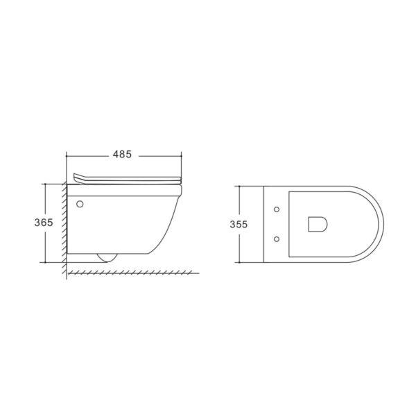Унитаз подвесной Corsa VT1-26 безободковый, ультратонкое soft-close сиденье