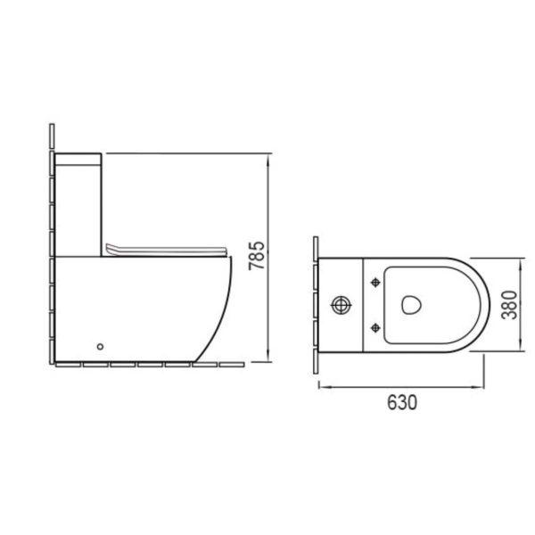 Унитаз-компакт Globo VT2-14 безободковый, механиз слива  Geberit, ульратонкое сиденье soft close